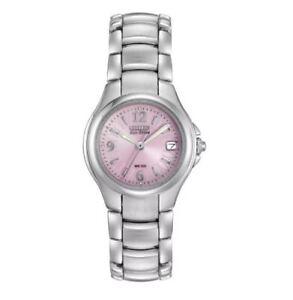Citizen Eco-Drive Silhouette Women's Pink Motif Dial 25mm Watch EW1170-51X