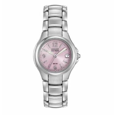 Citizen Eco-Drive Women's EW1170-51X Refurbished Pink Motif Dial 25mm Watch
