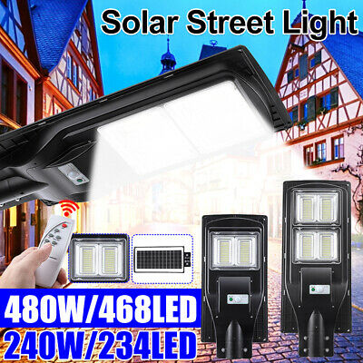 468 LED// 480W Solar Powered Street Light Outdoor Remote Control Security