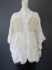 DANIELA GREGIS 100 % linen jacket NEW with TAG  cream / off white