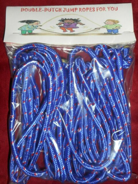 2-16 FT DOUBLE DUTCH JUMP ROPES-2-LONG-SPEED-RED-SCHOOL-CLOTH-COMPETITION-MOVIE