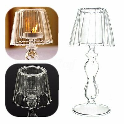 Elegant Tea Light Glass Candle Holder Wedding Table Decor Tealight Christmas