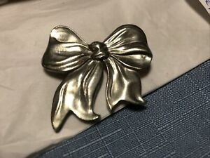 Pewter Bow Pin Seagull Pewter Bow Brooch Canada
