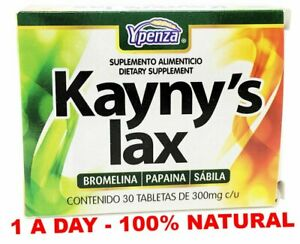 Kaynys Lax HERBAL LAXATIVE all natural one a day LAXANTE Natural Detox - 30 Tabs