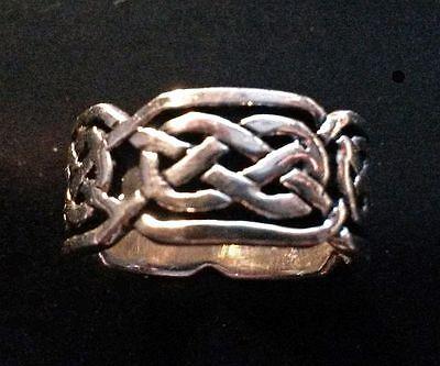 18/58 Reasonable Price Precious Metal Without Stones Fine Jewelry Bandring Silberring Mit Keltischen Knoten 925 Sterling Silber Größe