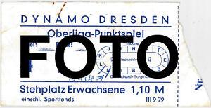1979 Ticket DYNAMO DRESDEN Oberliga-Punktspiel DDR 1,10 M *aus Nachlass* - Thüringen, Deutschland - 1979 Ticket DYNAMO DRESDEN Oberliga-Punktspiel DDR 1,10 M *aus Nachlass* - Thüringen, Deutschland