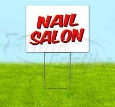 Nail Salon 18x24 Yard Sign With Stake Corrugated Bandit Usa Business Beauty