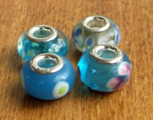 4-x-Beads-Sterlingsilber-und-Glasperle-AUS-ECHTEM-SILBER-und-Glas-blau
