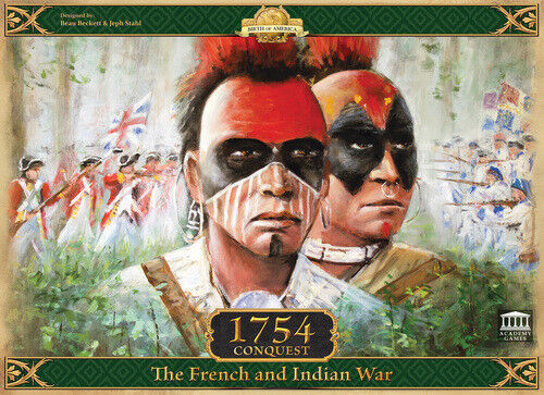 1754 Conquest, The French and Indian War, Boardgame, Nuovo by Academy Games, Eng