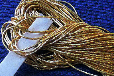 Vintage Goldwork-Bright Check-Gold Gilt Metal Embroidery Thread French