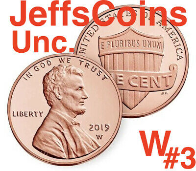 2019 W BU Uncirculated LINCOLN CENT FROM THE Mint SET 3rd WEST POINT W//COA