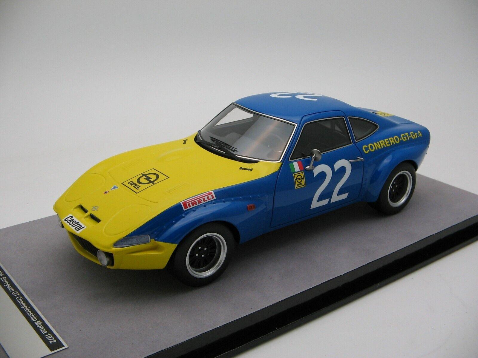 1 18 Scale Tecnomodel Opel Gt 1900 Equipo Conrero Monza 1972 - TM18-133A