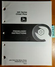 John Deere 685 Series Chisel Plow Predelivery Instructions Manual Pdin200446 H5