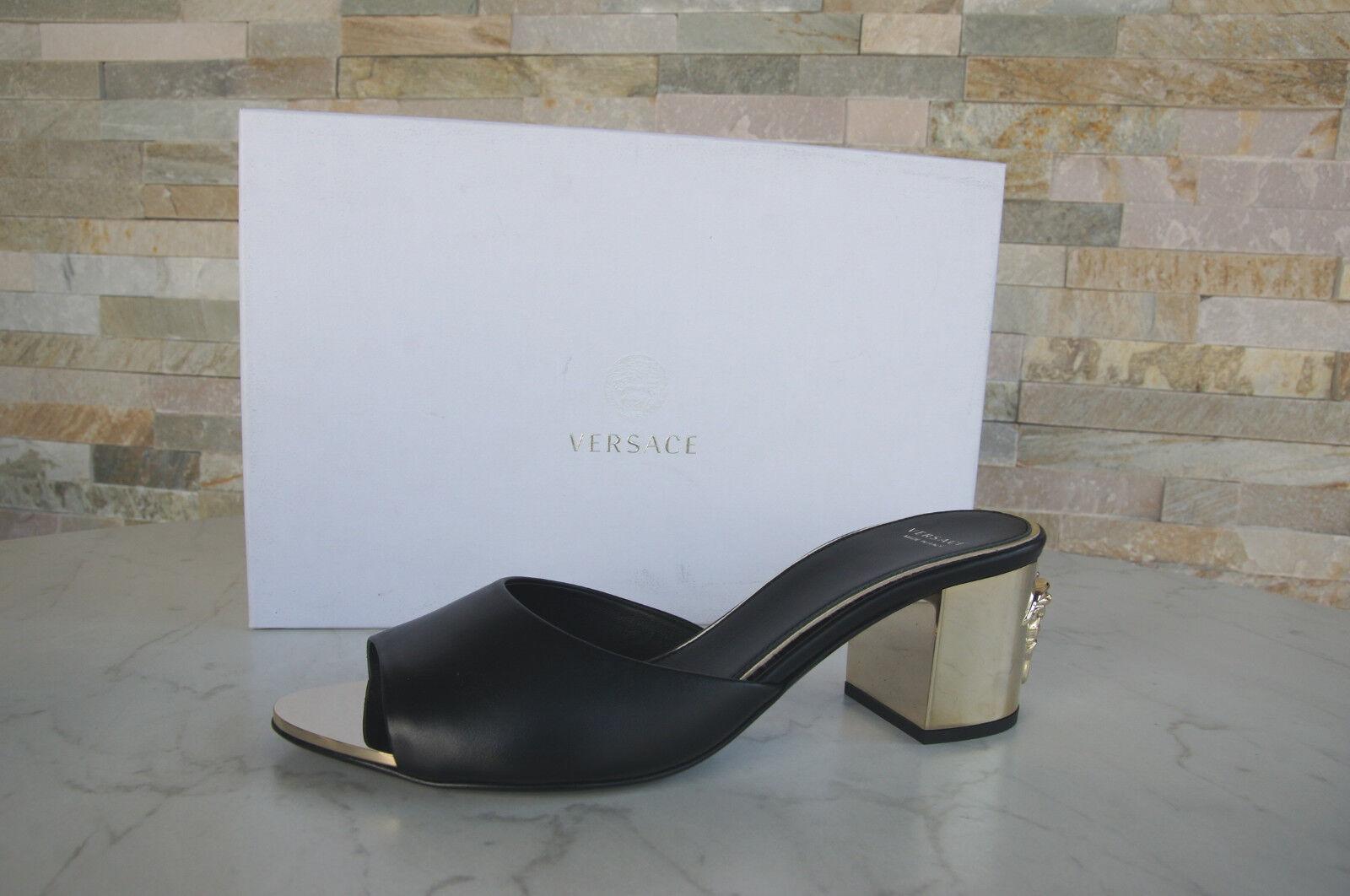 Versace sandalias sandalias sandalias, zapatos negro nuevo PVP