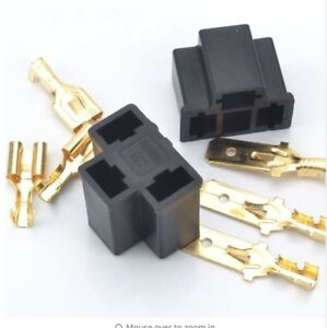 H4-3-Pin-Conectores-Bombilla-Faro-Par-Tapones-bloques-zocalos-reparaciones