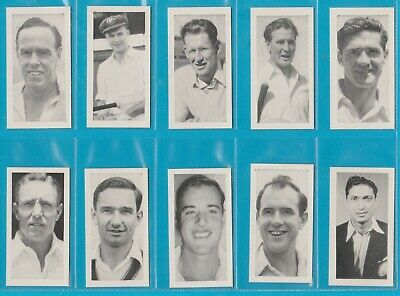 1ST SERIES 25 CARDS KANE-FULL SET 1956 CRICKET ERS EXC+++