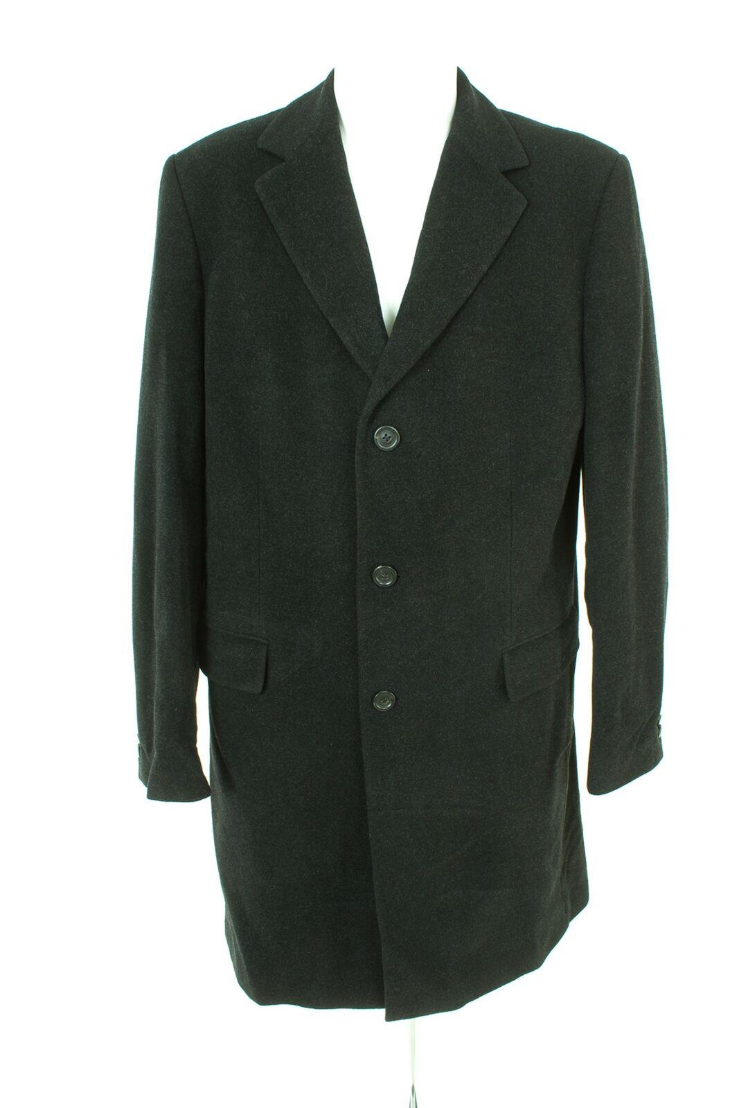 JOOP   Mantel Coat Trenchcoat  Wolle  Herren GR. 102 in Schwarzgrau