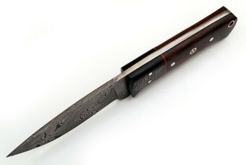Damassé Couteau très beau Main Forgé damassé chasse couteau 553 DL