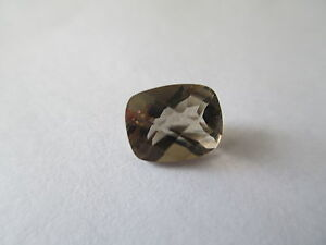 ,38ct Loose Antique Emerald Cut Light Smokey Quartz 9 x 7mm