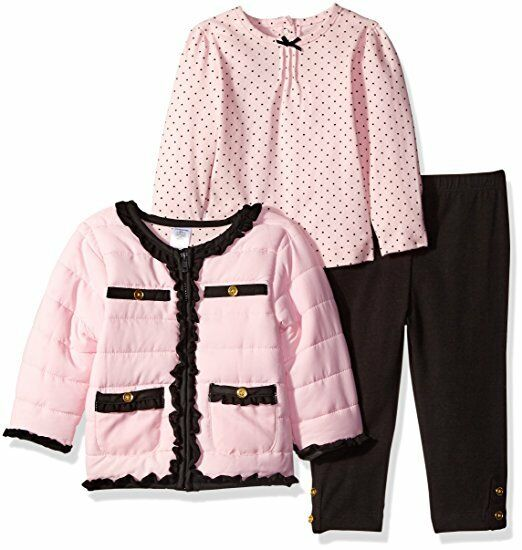 Little Me Baby Girls Pink Multi 3 Stück Legging Jacket Set
