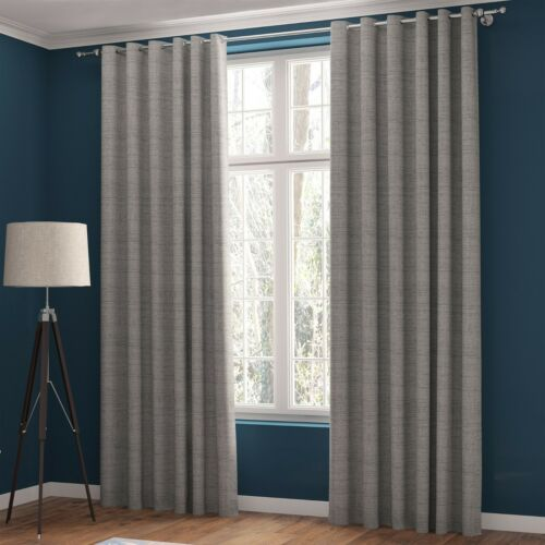 Blackout Curtains Magnetic Style in Silver colour eyelet or pencil pleat
