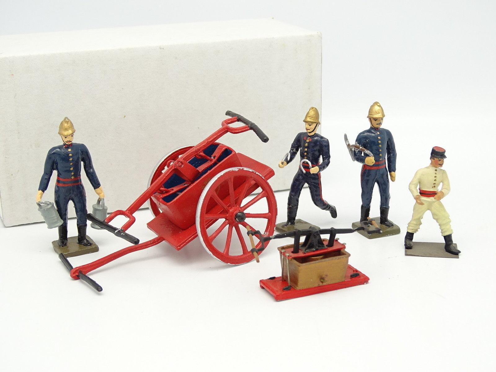 Kit Monté blanco Métal 1 43 - Lot Pompe à bras et soldats Pompiers
