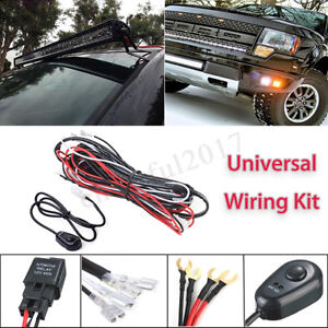 12V-40A-LED-Work-Light-Bar-DRL-Wiring-Harness-Kit-ON-OFF-Rocker-Switch-Relay-0