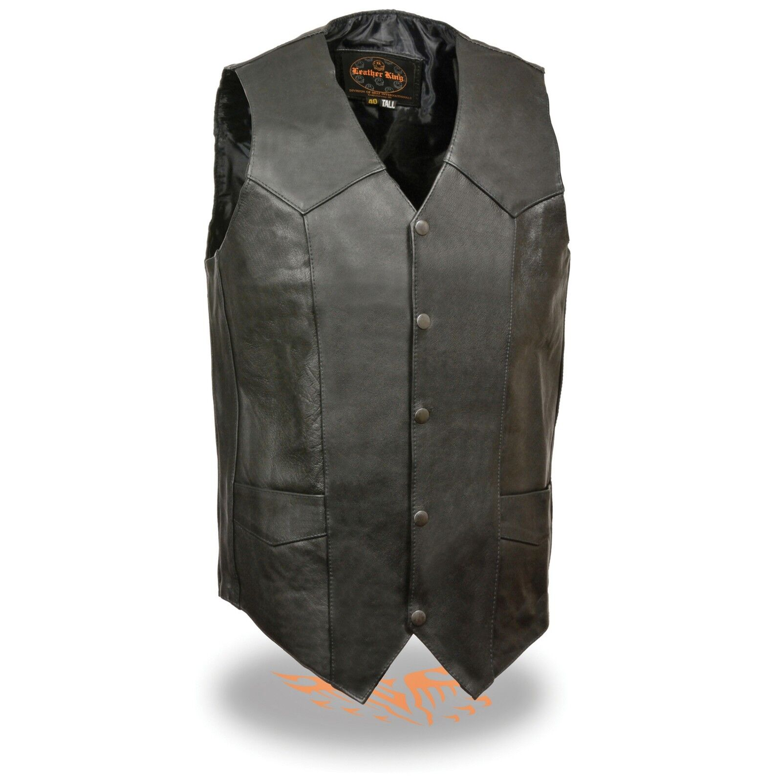 Milwaukee Leather Men's Classic Snap Front Biker Vest -TALL -   SH1310Tall