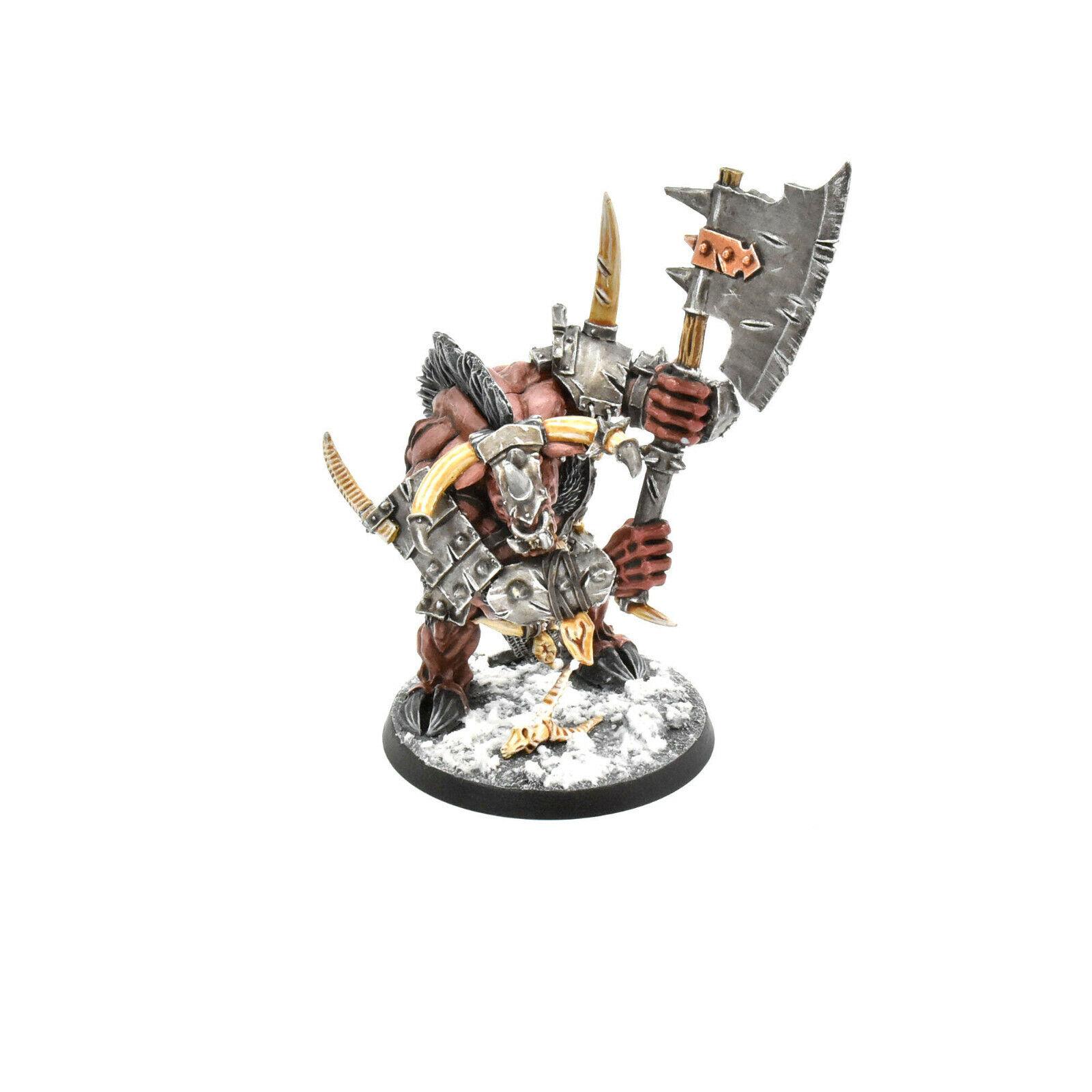Bestias del caos Doombull Pro Pintado Finecast Warhammer Beastmen Sigmar
