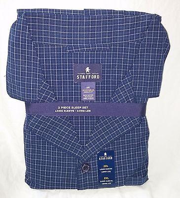STAFFORD Pajamas - 2 Piece Sleep Set - Wellington Blue ($60 Retail) - 2XL
