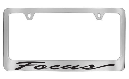 Ford Focus Script Chrome Plated Brass Metal License Plate Frame Holder