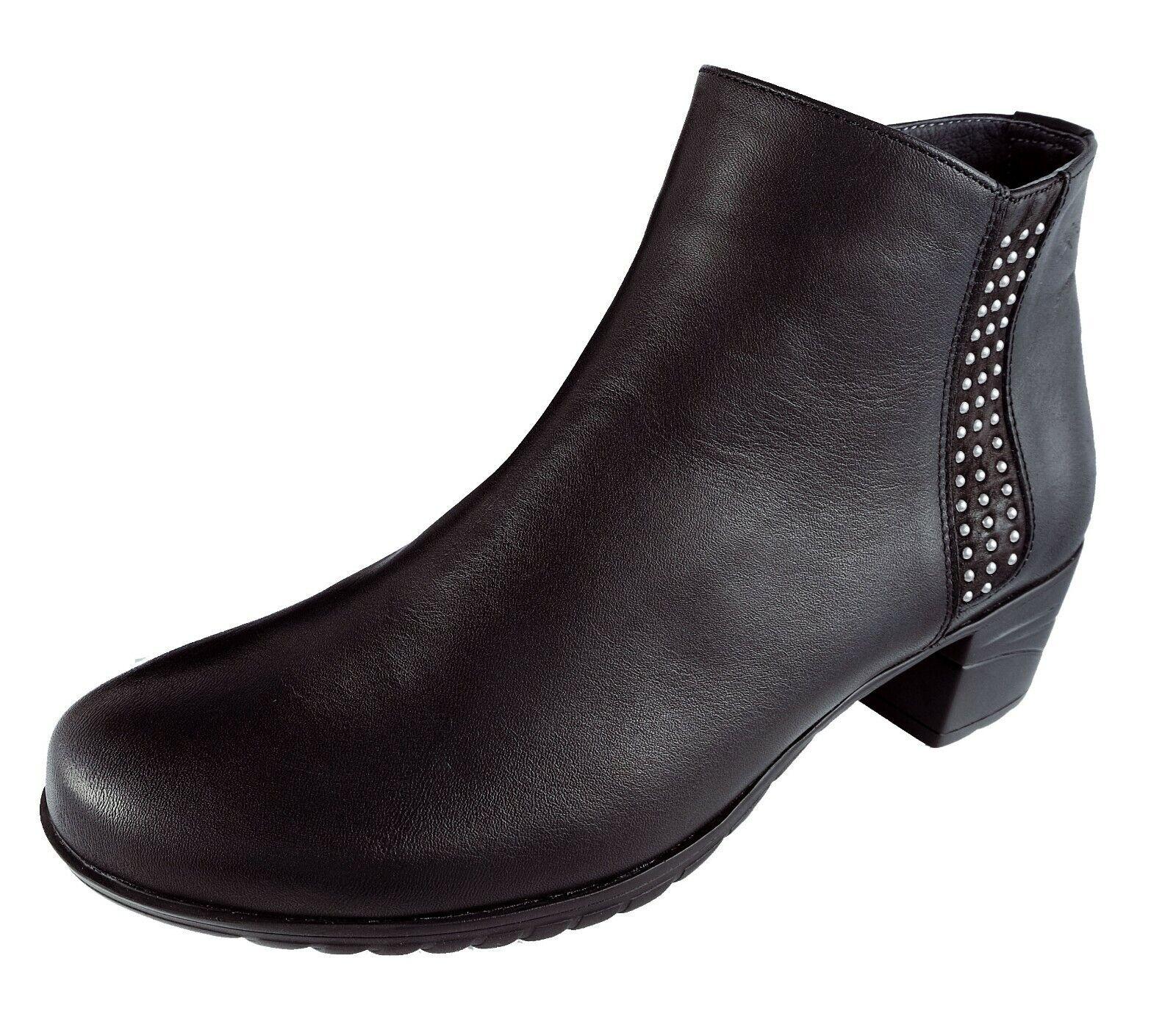 Schuhe Frau   damen Stiefeletten Fluchos Schwarz   Leder Charis Ref.9809