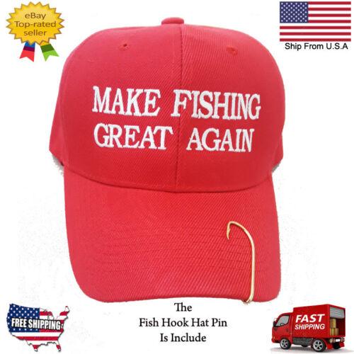 "MAKE AMERICA GREAT AGAIN FISHING HOOK HAT TRUMP FUNNY /""THE PERFECT FISHING MAN/"""