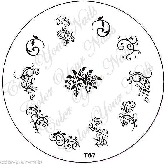 Stamping Schablone T67, filigrane Ranken,verschnörkelt,Blätter.Stampingschablone