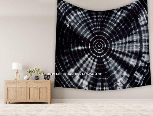 Indian chauffante Wall Hanging Mandala Tie Dye King noir tapisserie bohème décor