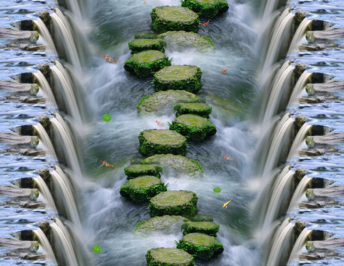 3D Waterfall Stone 7855 Floor WallPaper Murals Wall Print Print Print Decal 5D AU Lemon a4a6e9