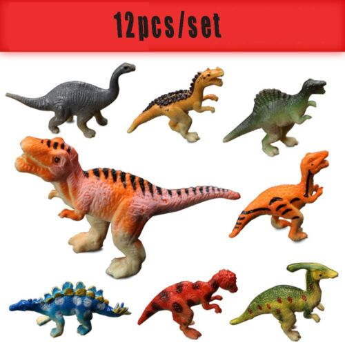 12pcs/lot Mini Dinosaur Plastic Jurassic Play Model Hot Developmental Kids Toy