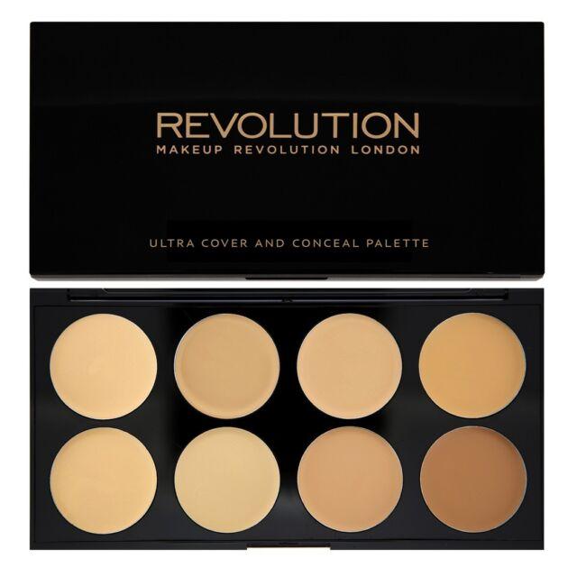 Cover & Conceal Palette Makeup Revolution  Contour Highlighter Light - Medium