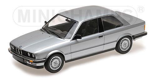 Minichamps 155026001 Échelle 1:18, BMW 323i 1982 Argent #
