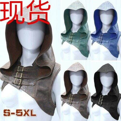 Halloween T-shirt Huntress Assassin Medieval Cosplay Costumes Carnival Hooded