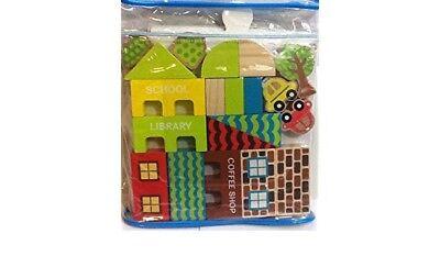 Creatology Town Blocks City Playset 26 Piece Kids Wood Construction Set Toy Ebay