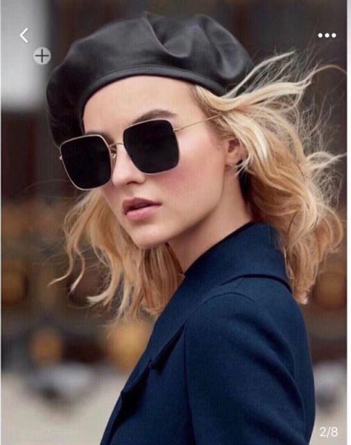 10b072e002 New Authentic CHRISTIAN DIOR Sunglasses Metallic Dior Stellaire 1 s Square  Gold