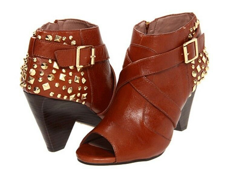 VINCE CAMUTO WOMEN'S  PADARA  BOOTS SOFT LUXURY LEATHER ACORN BOOTIES 7.5 NEW