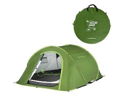 Quechua Pop Up 2 Seconds Quick III Tent Camping Hiking 3 Three Person Man Picnic
