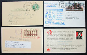 US-Postal-Stationery-Set-of-4-Illustrated-Covers-Letters-GS-USA-Letters-H-8358
