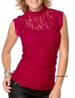 NEW LADIES WOMANS SEXY SUMMER SUN HOLIDAY LACE EVENING PARTY TOP SIZE 24/26 UK