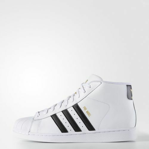 [S85956] MEN'S ADIDAS ORIGINALS PRO MODEL HIGH TOP SHELL TOE WHITE-BLACK 8-13