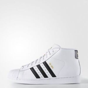 a820dbcabac3 Details about  S85956  MEN S ADIDAS ORIGINALS PRO MODEL HIGH TOP SHELL TOE  WHITE-BLACK 8-13