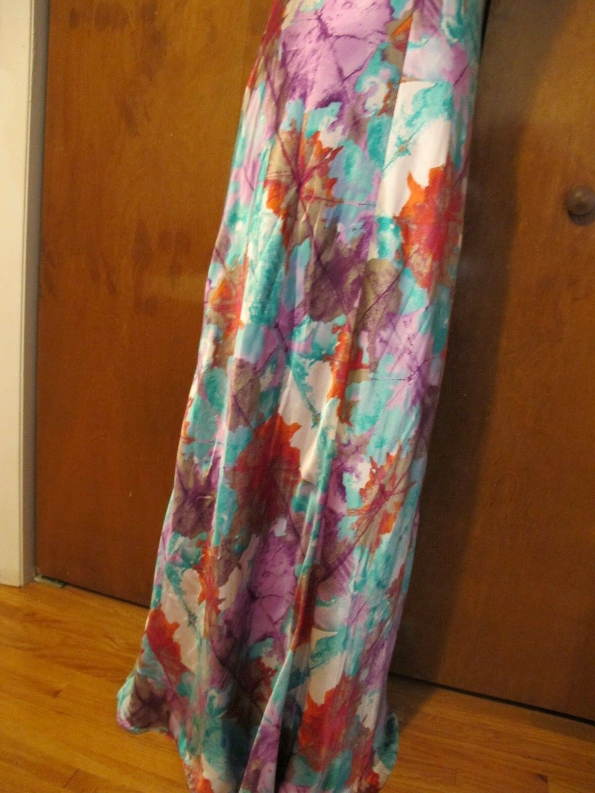 Laundry By Shelli Segal women's multi color color color evening maxi lined dress size 12 NWT 4271f0