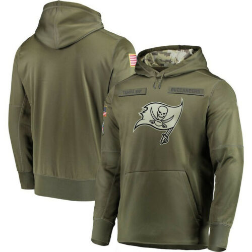 Details about  /Tampa Bay Buccaneers Salute Service Sideline Therma Pullover Sweatshirt Hoodie